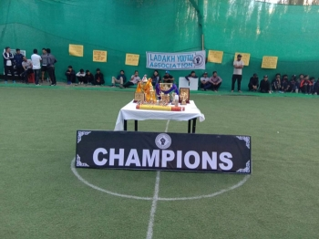 Kick-off for Leh's first artificial turf football field