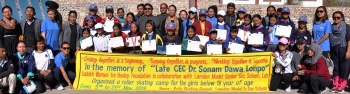 Ladakh Women Ice Hockey Foundation trains under 18 girls in roller skating