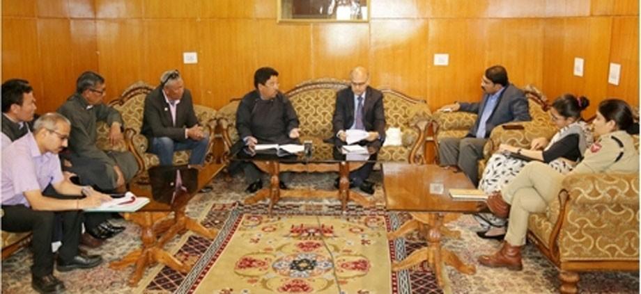 CEC, Leh calls on Advisor Sharma