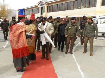 Director- General of Police, J&K, Dilbag Singh, visits Ladakh