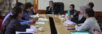 Review meeting of tourism activities and projects held in Leh