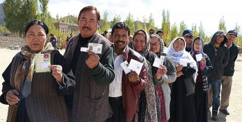 Leh witnesses low turnout in municipal elections
