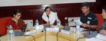 Sulekha Kumbhare reviews welfare schemes and programmes for minorities in Leh