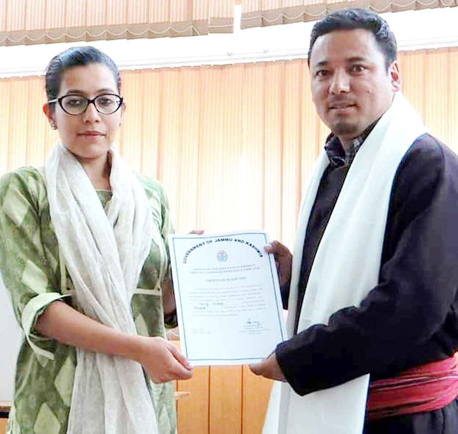 Tsering Sandup elected as new Deputy Chairman of Hill Council, Leh
