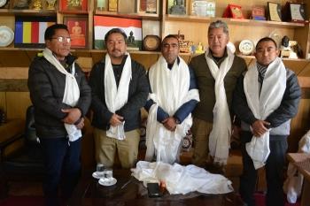 Tsewang Thinles re-elected LBA president, takes charge