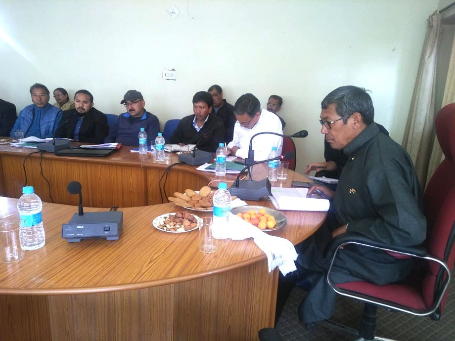 EC, Agriculture, reviews developmental progress at Khaltse sub-division