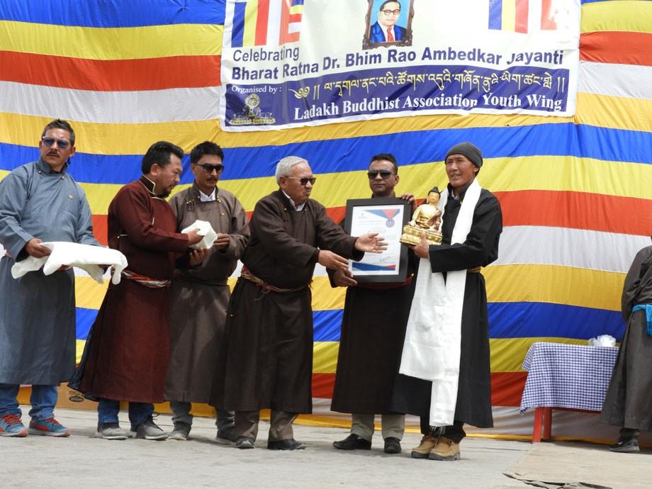 Tributes paid to Dr B R Ambedkar in Leh on his 128th birth anniversary