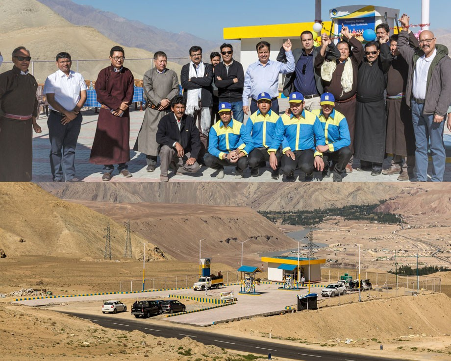 BPCL starts its first fuel station in Ladakh
