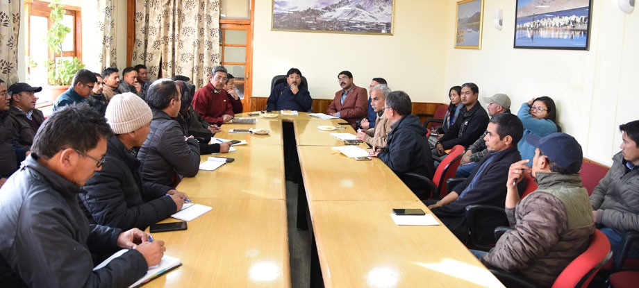 Meeting to ensure preparation for Ladakh Literatures Festival held