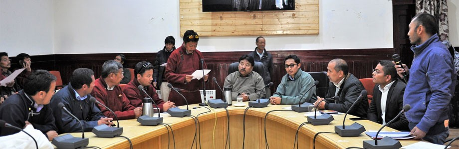 Block Development Council Chairmen takes oath in Leh