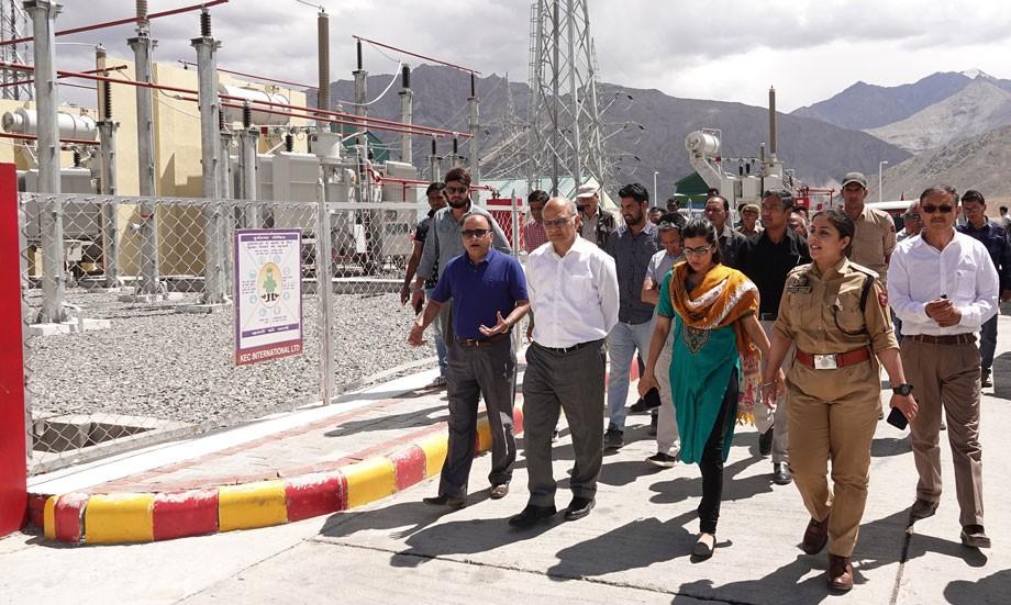 Advisor Sharma inspects Alchi project, grid stations in Leh