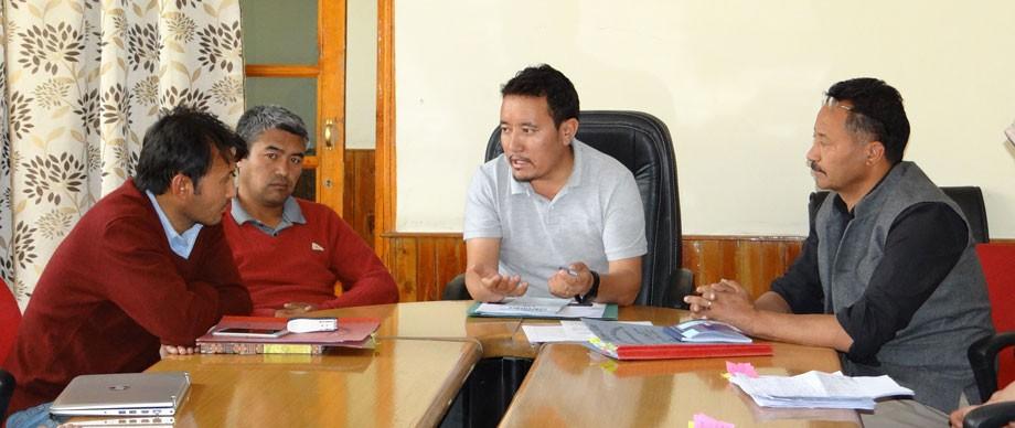 EC Konchok Stanzin reviews developmental schemes of Rural Development Department