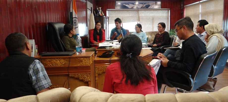 Meeting held on issues of women and child development in Leh