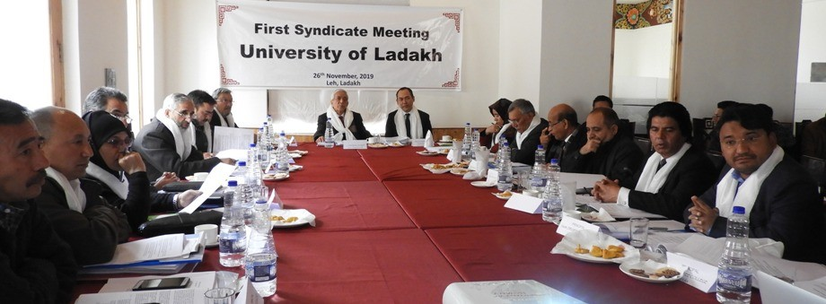 First syndicate meeting of University of Ladakh held