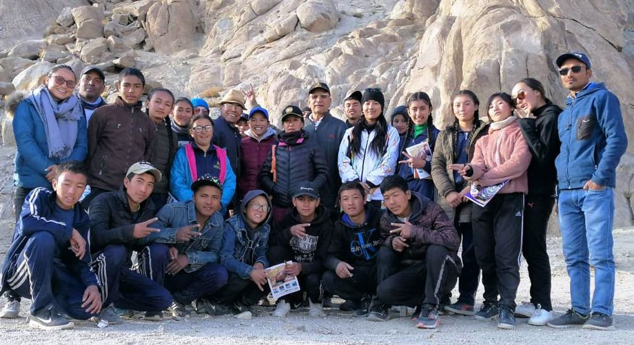 5-day-long adventure course conducted for students in Leh