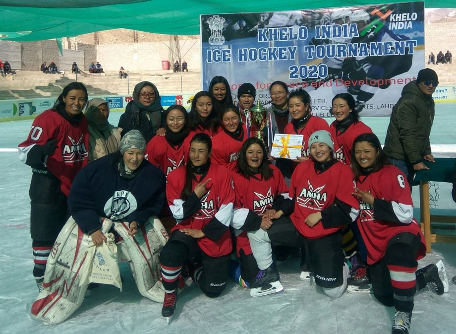 Khelo India Ice Hockey Cup, 2020, women section, concludes