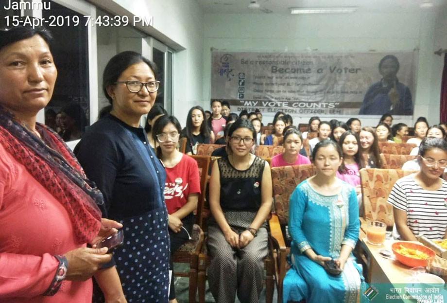Leh SVEEP team visits Ladakhi Girls Hostel at Muthi, Jammu