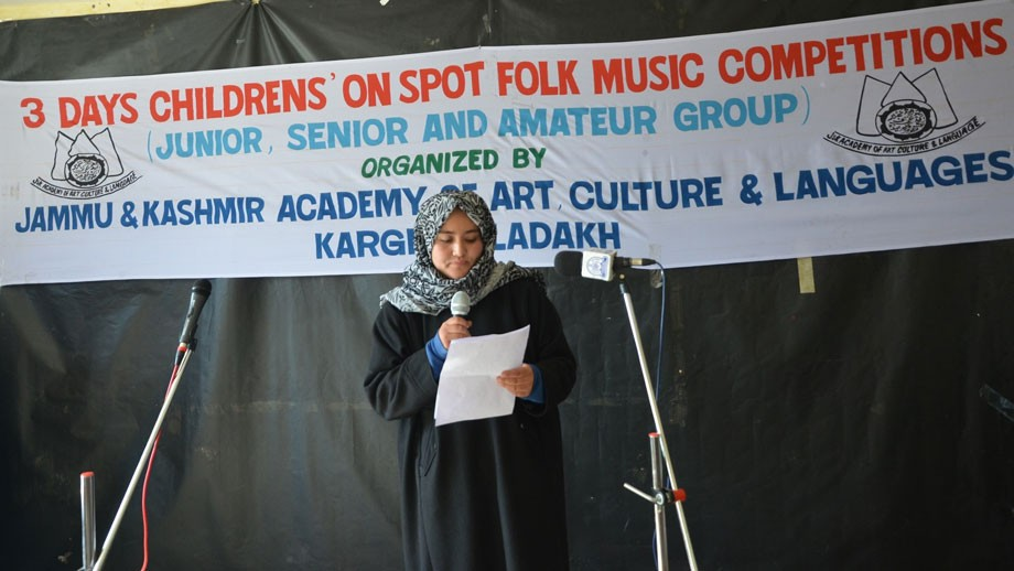Cultural Academy, Kargil, organises folk music competition