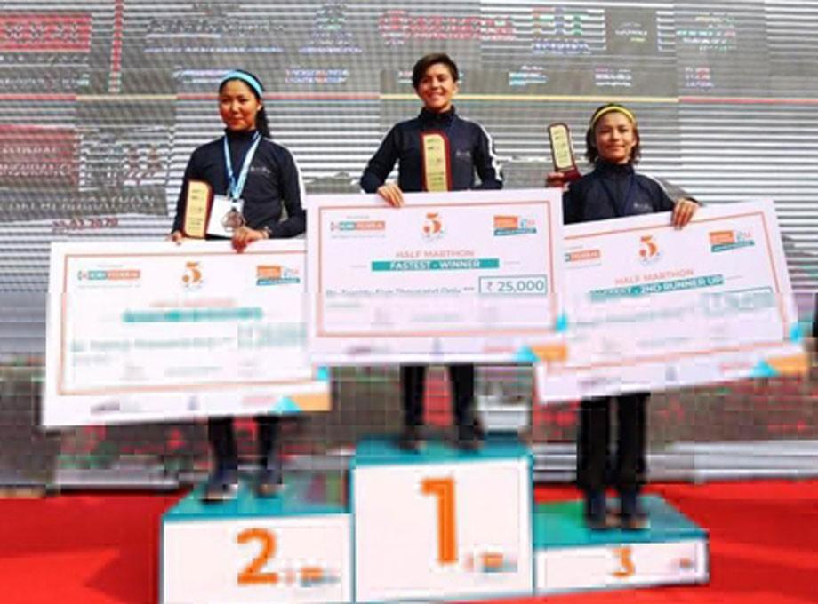 Girls of Ladakh retain titles in New Delhi marathon